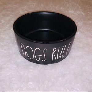 Black white Dogs Rule Bowl Rae Dunn New